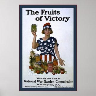 Las frutas de la guerra mundial de Victory~Vintage Impresiones