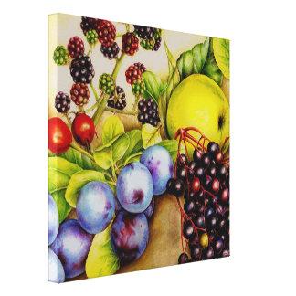 Las frutas del arte de la lona de pintura del seto lona envuelta para galerías
