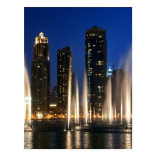 Las fuentes de Dubai Tarjetas Postales