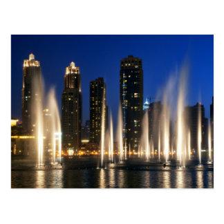 Las fuentes de Dubai Postal