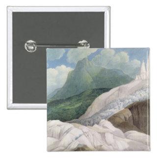 Las fuentes del Aveyron, 1781 (w/c) Pin Cuadrada 5 Cm