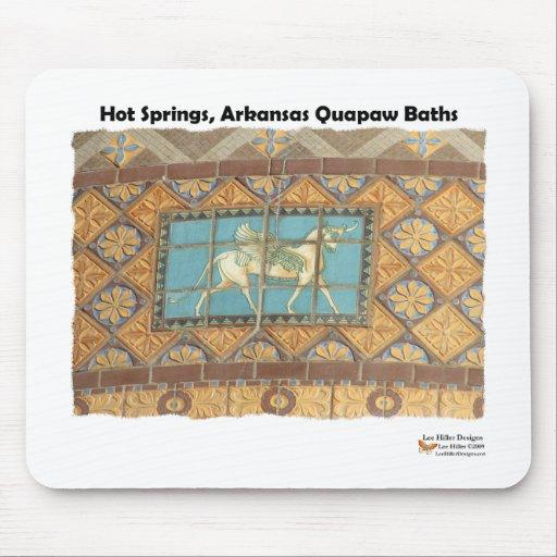 Las fuentes termales, bóveda de AR Quapaw tejan la Alfombrillas De Raton
