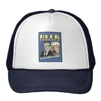 Las gafas de la cerveza dan vuelta al arco en el w gorros bordados