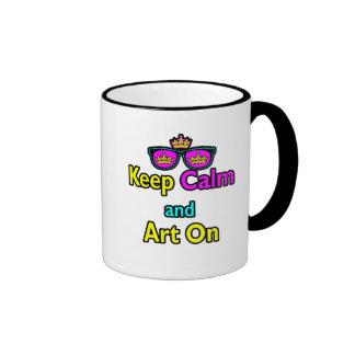 Las gafas de sol de la corona del inconformista de taza de café