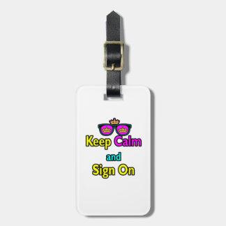 Las gafas de sol de la corona del inconformista gu etiquetas para maletas