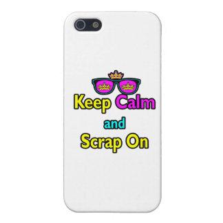 Las gafas de sol de la corona del inconformista gu iPhone 5 protector