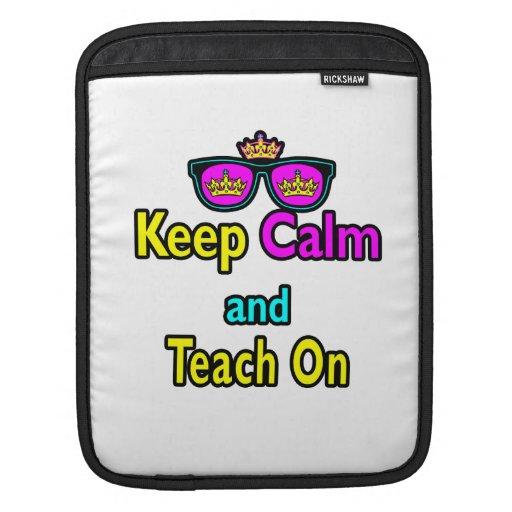 Las gafas de sol de la corona guardan calma y la e fundas para iPads