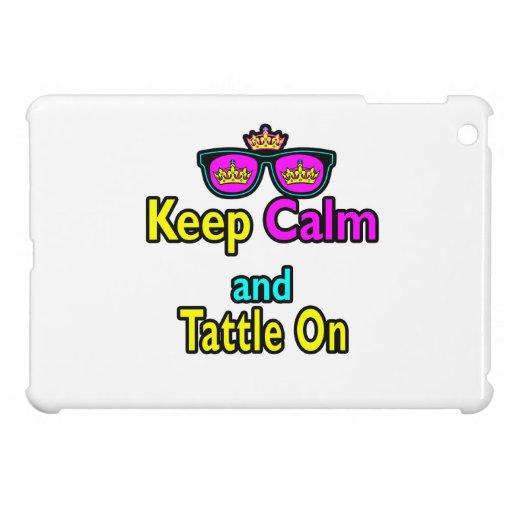 Las gafas de sol de la corona guardan calma y Tatt iPad Mini Carcasas