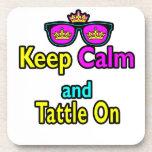 Las gafas de sol de la corona guardan calma y Tatt Posavasos De Bebidas