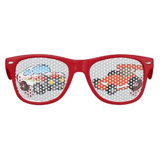 Las gafas de sol del niño del coche de carreras lentes de fiesta