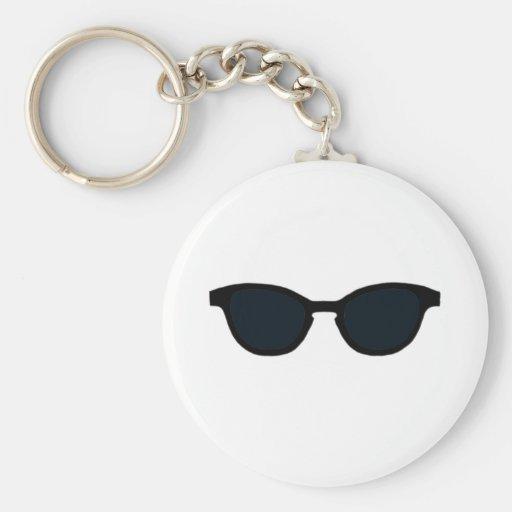 Las gafas de sol ennegrecen jGibney negro del arte Llavero Redondo Tipo Pin
