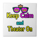Las gafas de sol guardan calma y el teatro encendi tejas  cerámicas