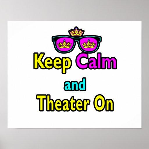Las gafas de sol guardan calma y el teatro encendi impresiones