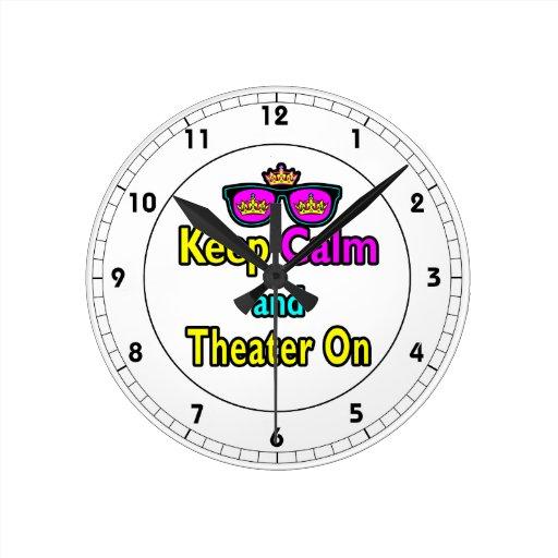 Las gafas de sol guardan calma y el teatro encendi reloj redondo mediano