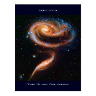 Las galaxias color de rosa, Arp 273 Tarjeta Postal