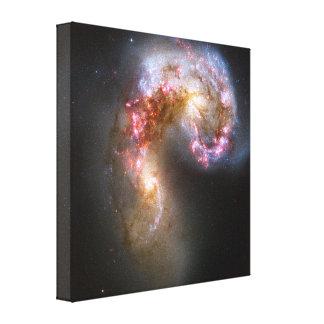 Las galaxias de las antenas impresión en lona