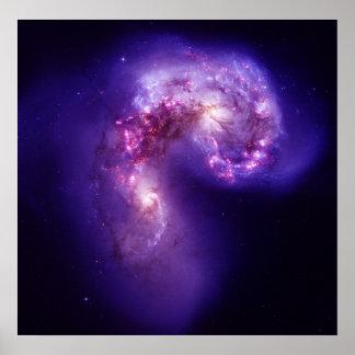 Las galaxias de las antenas póster