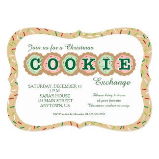 """Las galletas con asperjan intercambio de la invitación 5"""" x 7"""""""
