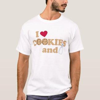 Las galletas de los hombres y camiseta de la leche
