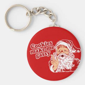 Las galletas hacen Santa gaseoso Llavero Personalizado