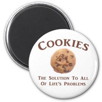Las galletas solucionan problemas imán redondo 5 cm