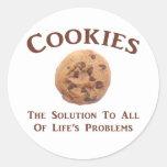 Las galletas solucionan problemas pegatina redonda