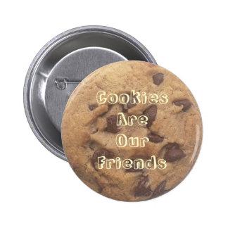 Las galletas son nuestros amigos pins