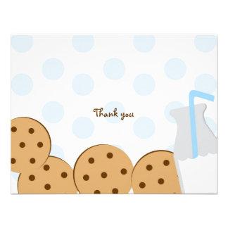Las galletas y la leche le agradecen las tarjetas anuncio personalizado