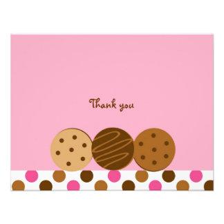 Las galletas y la leche le agradecen las tarjetas invitación personalizada
