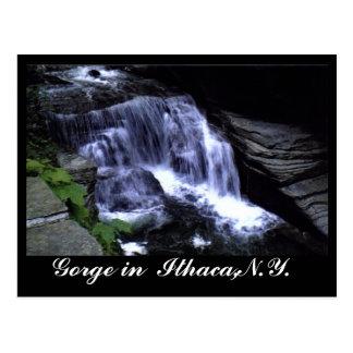 LAS GARGANTAS postal de ITHACA, N.Y.