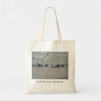 Las gaviotas en el golfo apuntalan, tote del viaje bolsa tela barata