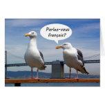 Las gaviotas hablan francés felicitacion