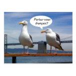 Las gaviotas hablan francés tarjetas postales