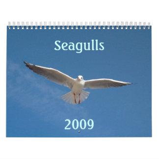 Las gaviotas hacen calendarios 2009