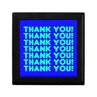 Las gracias a él azul ciánico fresco de los muchac caja de joyas