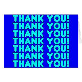 Las gracias a él azul ciánico fresco de los muchac tarjeta de felicitación