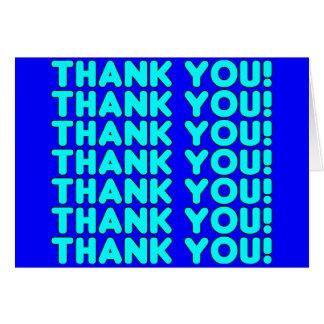 Las gracias a él azul ciánico fresco de los muchac tarjeta pequeña