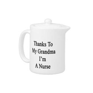 Las gracias a mi abuela soy enfermera