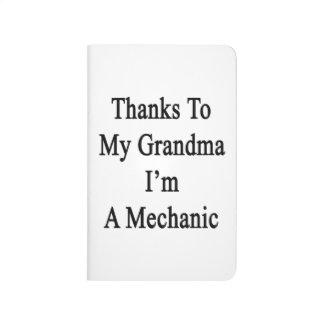 Las gracias a mi abuela soy mecánico cuadernos grapados