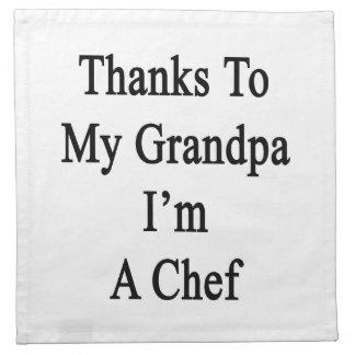 Las gracias a mi abuelo soy cocinero servilletas de papel