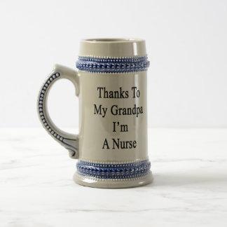 Las gracias a mi abuelo soy enfermera taza