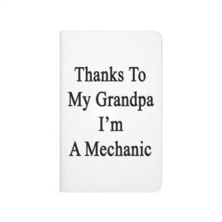 Las gracias a mi abuelo soy mecánico cuadernos grapados