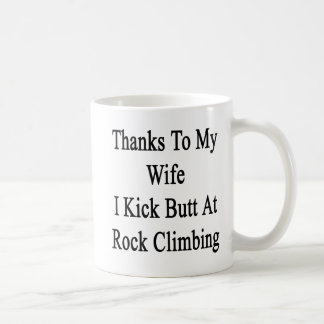 Las gracias a mi esposa golpeo extremo con el pie taza clásica