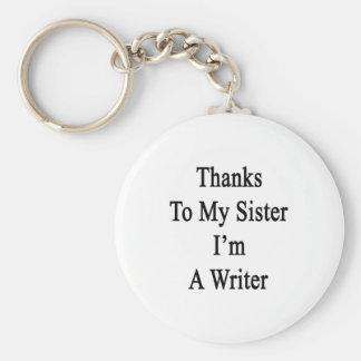 Las gracias a mi hermana soy escritor llavero