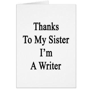 Las gracias a mi hermana soy escritor felicitacion