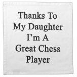 Las gracias a mi hija soy un gran jugador de ajedr servilleta imprimida