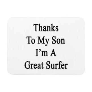 Las gracias a mi hijo soy gran persona que practic imanes rectangulares