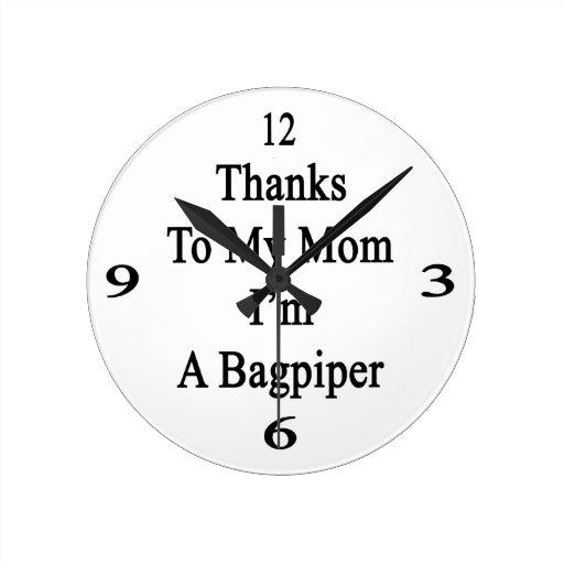 Las gracias a mi mamá soy gaitero reloj de pared