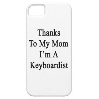 Las gracias a mi mamá soy teclista iPhone 5 Case-Mate protectores