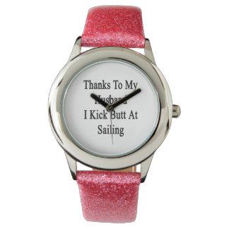 Las gracias a mi marido golpeo extremo con el pie relojes
